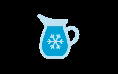 Kyl vatten i kylskåpet